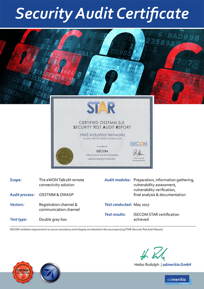 Talk2M - Security Audit Certificate