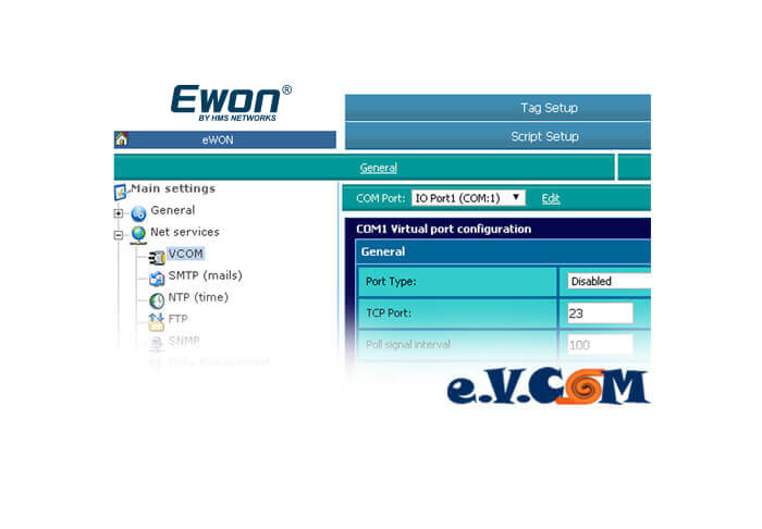 eVCOM Screenshot