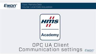 OPC UA Client - Communication settings