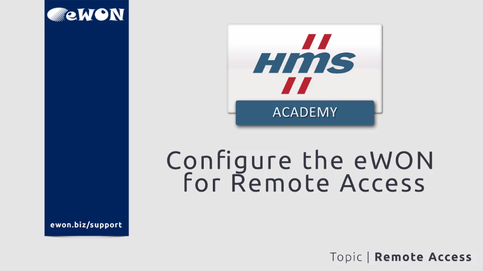Topic - Configure the eWON for Remote Access